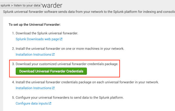 Splunk Universal Forwarder in the Docker as a system logs gatherer
