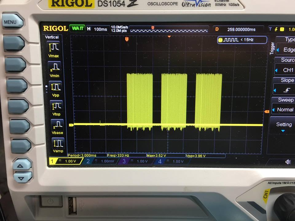 This is a USB signal from the computer to the buffer.  Notice the level: 3.5V