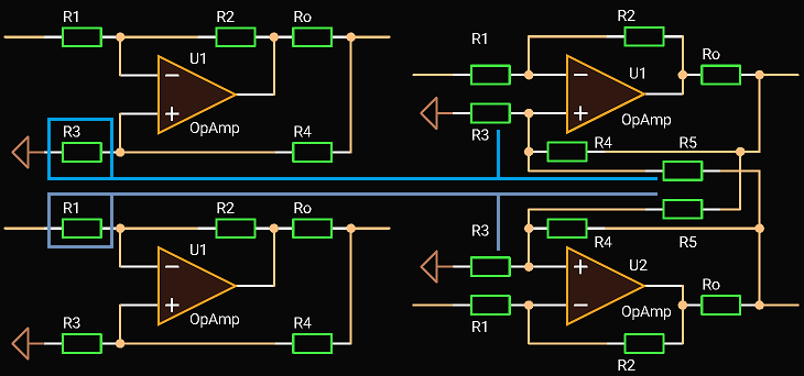 Balanced Driver with Differential Input, Idea