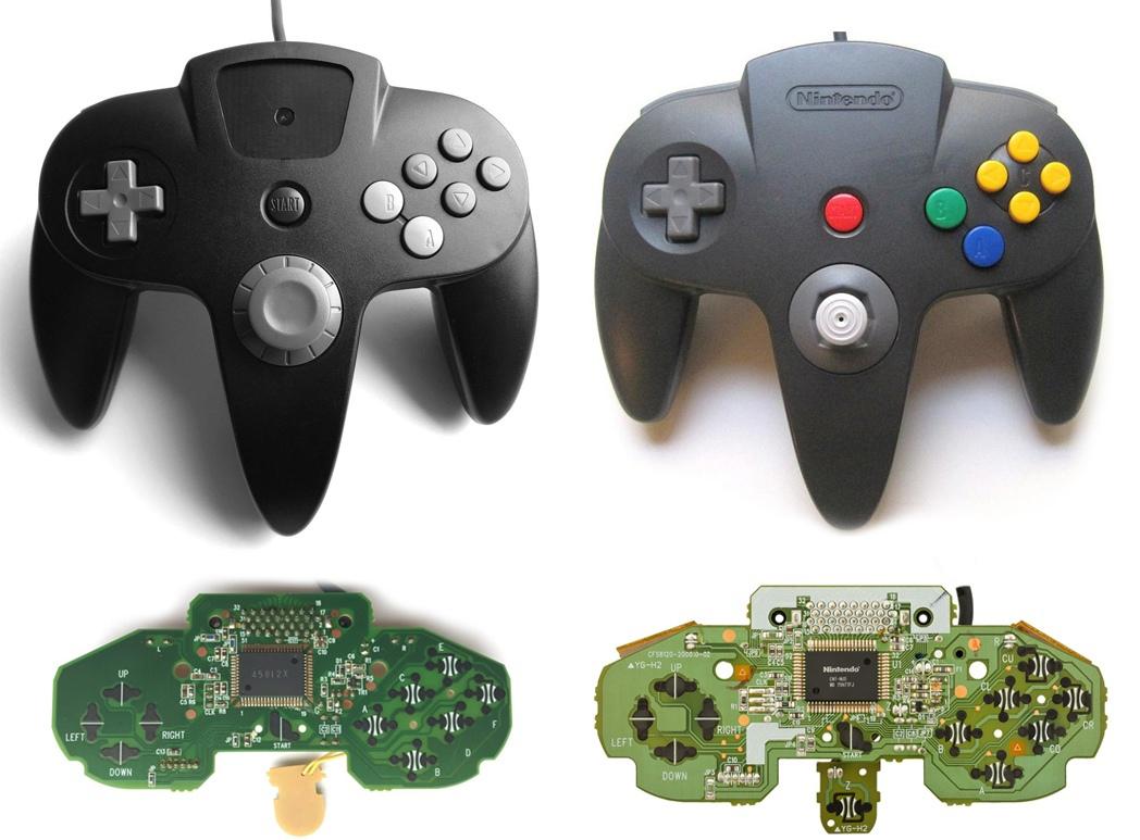 Контроллер Nintendo 64 практически полностью унаследовал характеристики своего прототипа. Исключением были: чуть меньшие габариты, уменьшенная «шляпка» аналогового стика, восьмиугольная направляющая для аналогового стика, а также крестообразное расположение кнопки С. Изменения коснулись и некоторых визуальных элементов, никак не повлиявших на геймплей