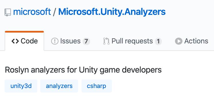 [Перевод] Unity Analyzers теперь Open-Source
