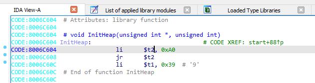 IDA Pro работа с библиотечным кодом (не WinAPI)