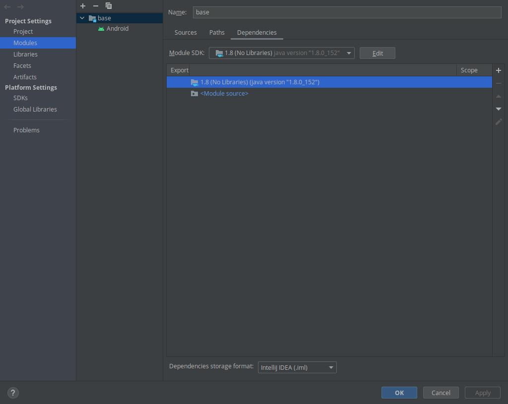 Настройка Java в проекте