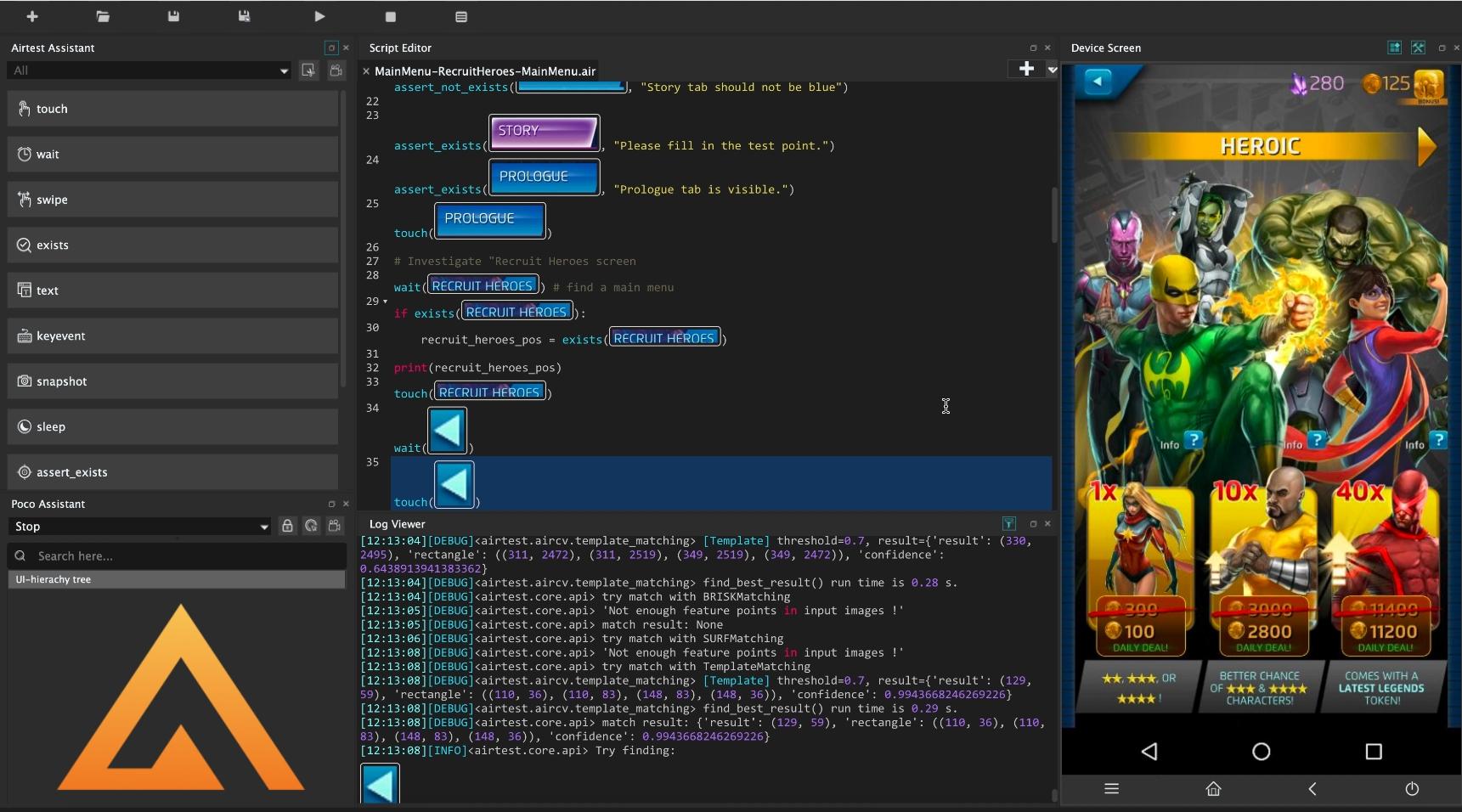 AirTest IDE и Image Recognition — автоматизация тестирования мобильных игр на основе распознавания изображений