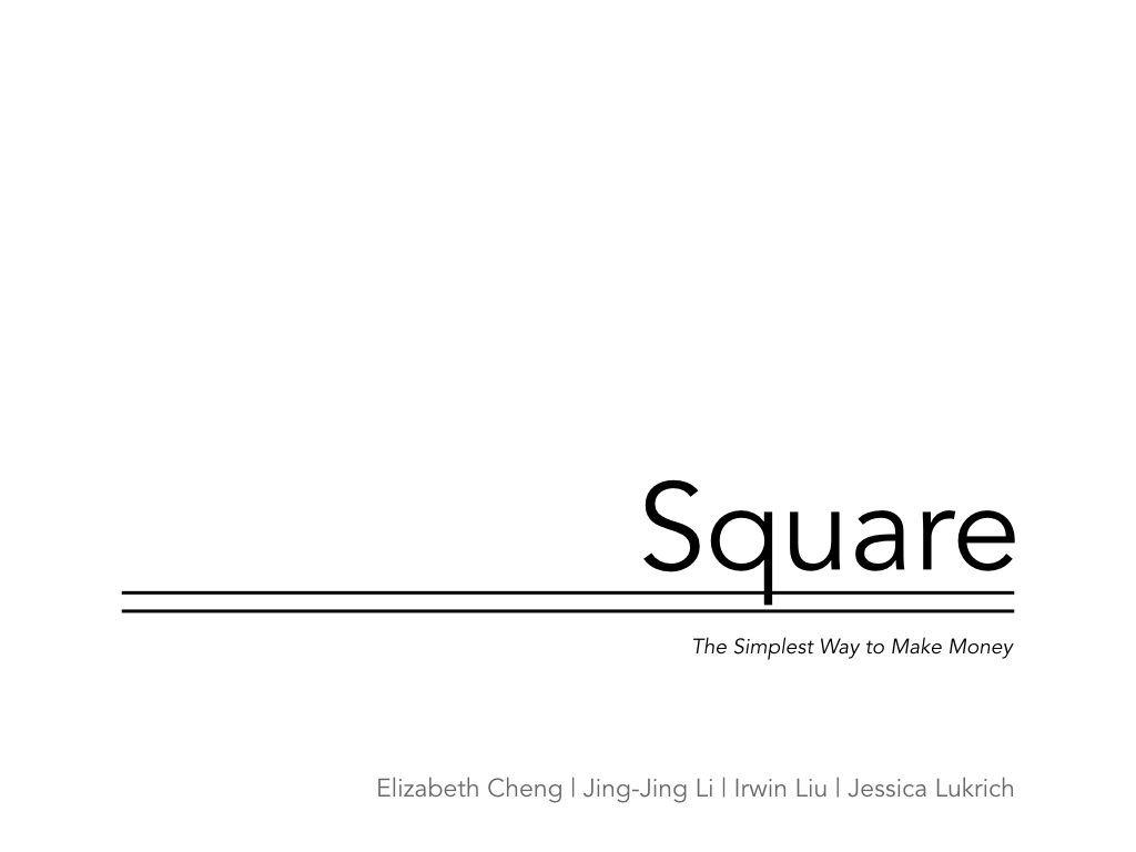 The presentation in a million: investor deck, which attracted $ 100 million for Square