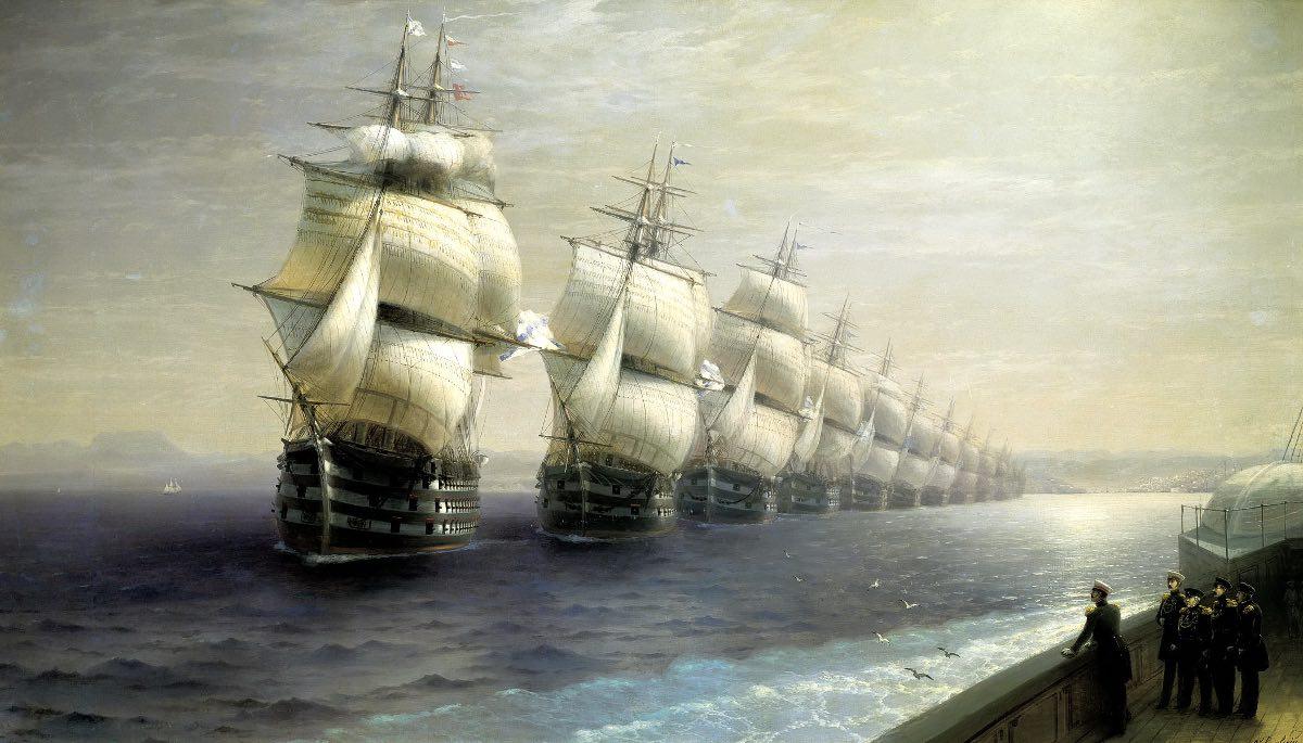 «Смотр Черноморского флота в 1849 году» И.К. Айвазовский