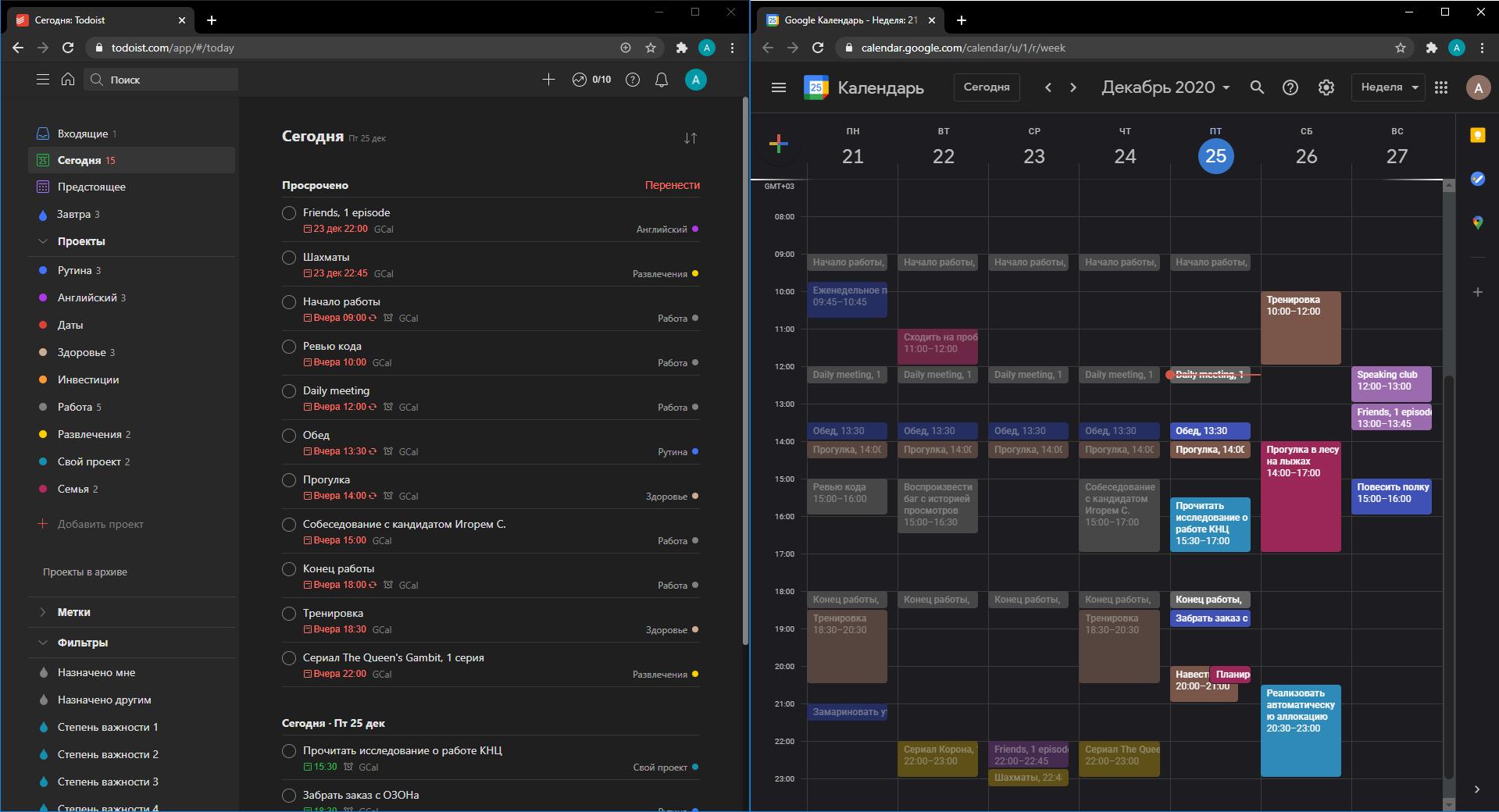 Список задач vs Календарь  сравнение инструментов управления задачами