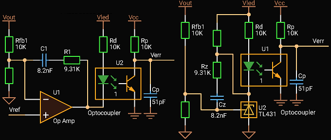 'Circuit Calculator', Type 2 compensation with Optocoupler without Fast Lane
