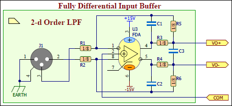Fully Differential Input Buffer