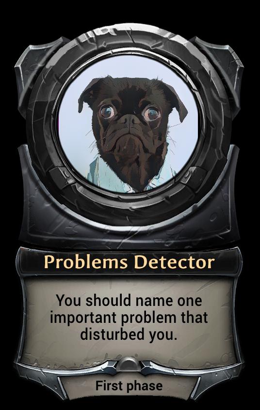 Макет карточки Problems Detector