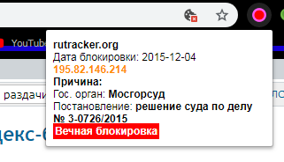 RKN Alert - the base of Roskomnadzor in your browser
