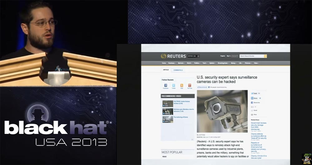 Conference BLACK HAT USA. How a Hollywood hacker uses surveillance cameras. Part 1