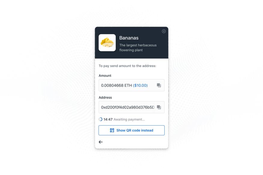 Принимаем криптовалютные платежи с Coinbase Commerce