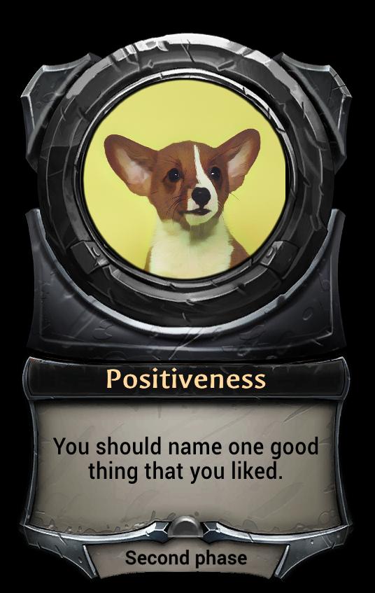 Макет карточки Positiveness