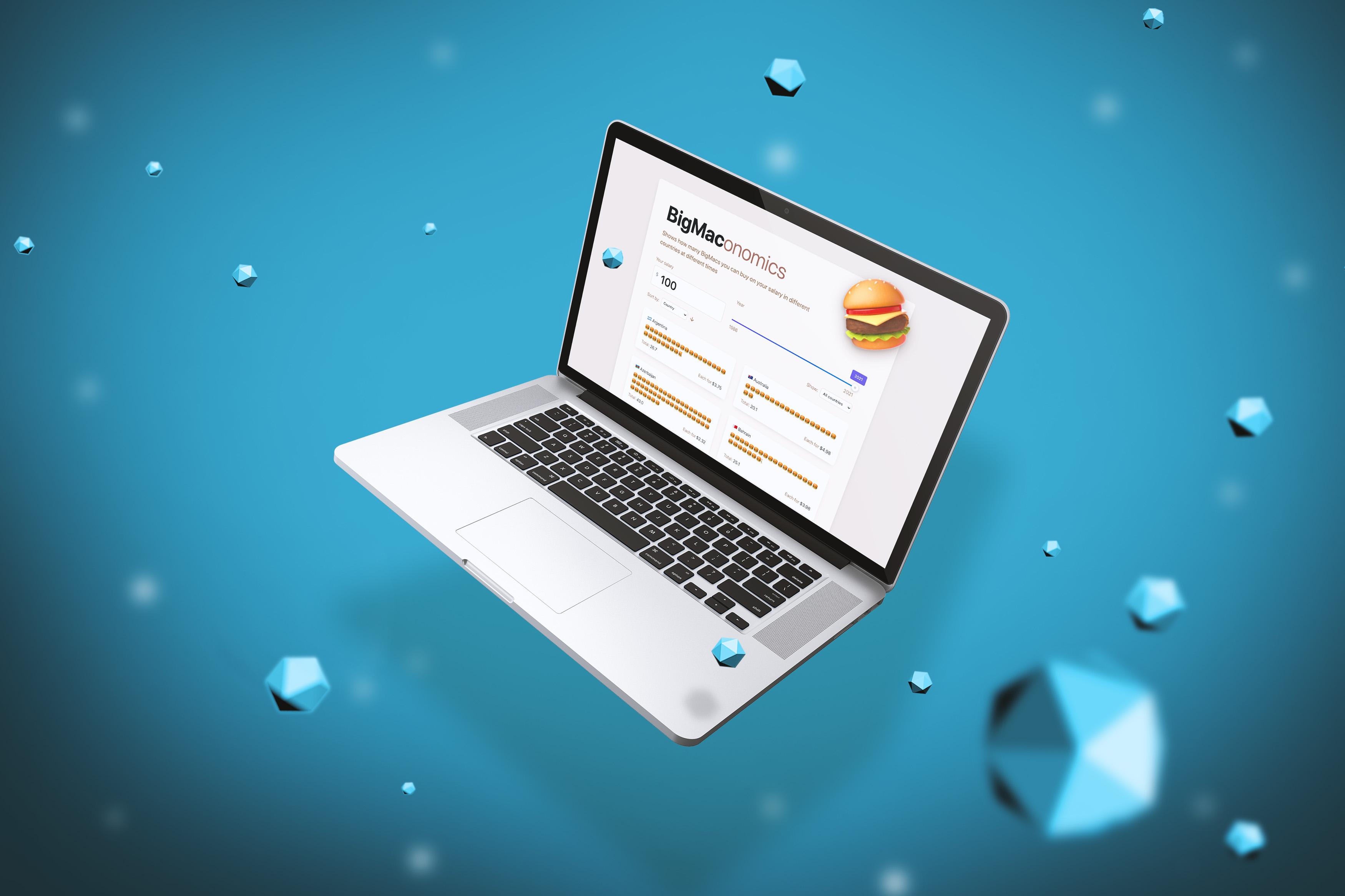 Делаем интерактивный Big Mac Index на React и Quarkly