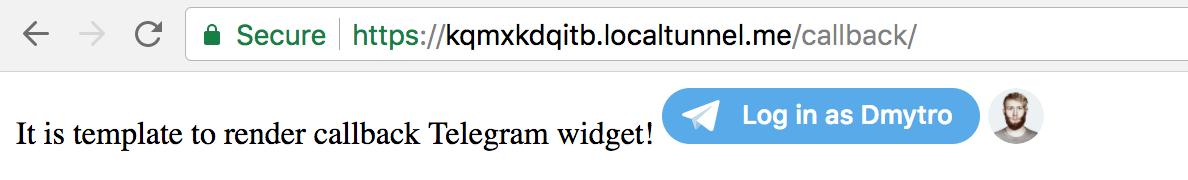 Авторизация пользователя на вашем сайте через Telegram для Django