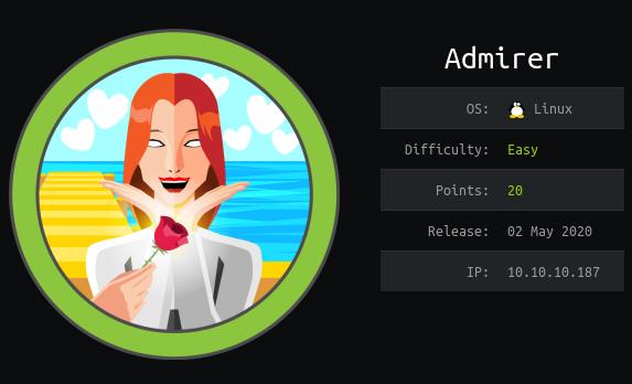 Hack The Box. Прохождение Admirer. Уязвимость в Admirer и RCE через подмену переменной среды