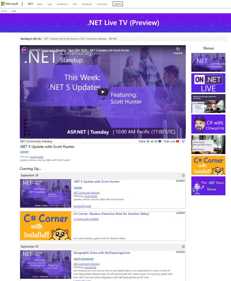 Представляем .NET Live TV  ежедневные лайв-стримы для разработчиков