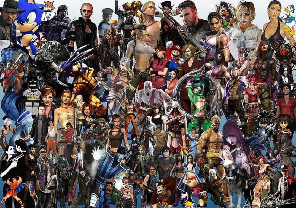 огромное количество картинки с персонажами разных игр менее, попробовав себя