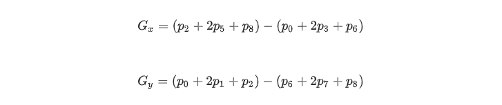Gx and Gy equations