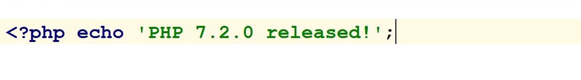 Вышел PHP 7.2.0