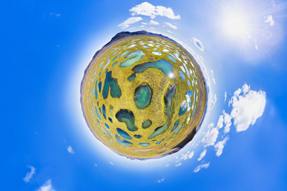 "How to remove and ""glue"" the spherical panorama to DJI Mavic Air"