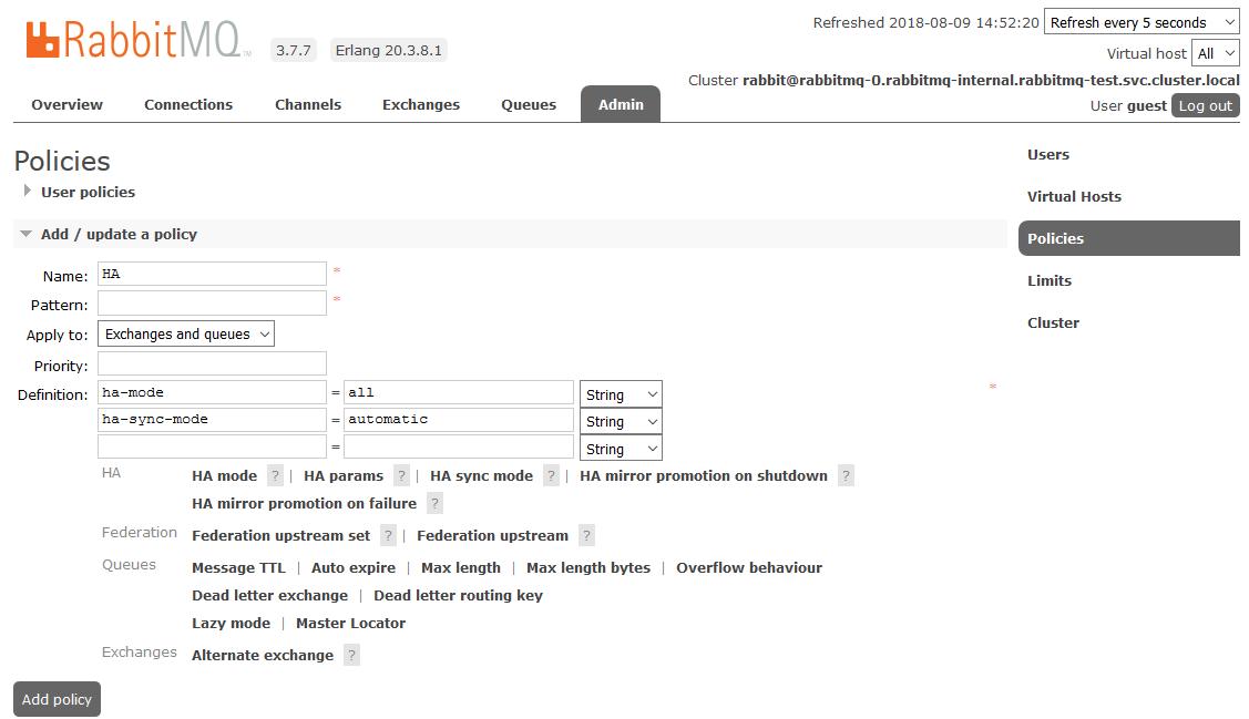 Запуск кластера RabbitMQ в Kubernetes / Блог компании True