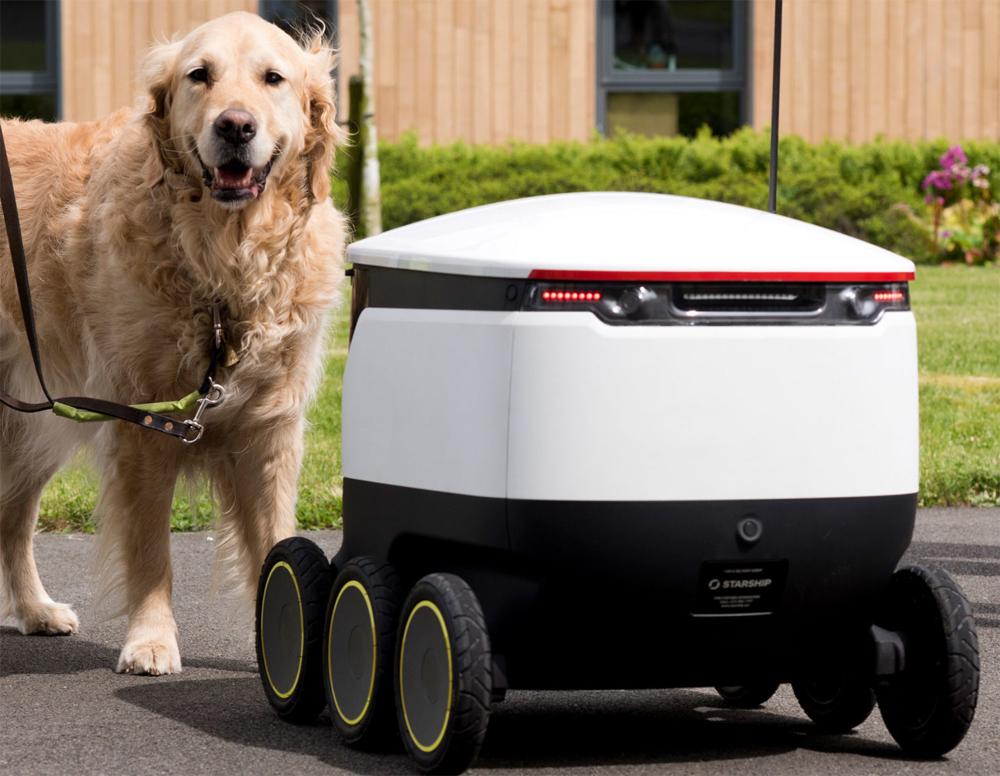 Как выглядят первые роботы-курьеры Amazon и FedEx