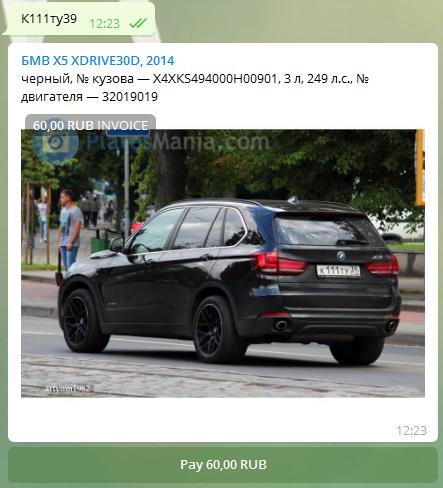 Telegram-бот «Изи ВИН» — проверка истории авто по VIN или гос. номеру