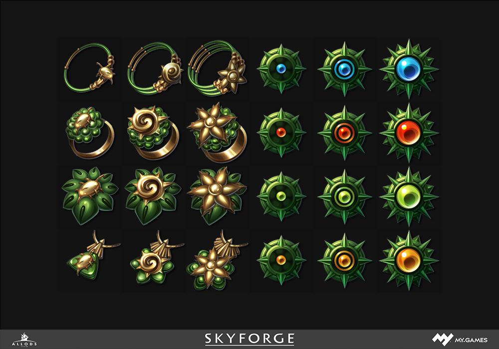 Дизайн интерфейса для игры, рисуем пак иконок
