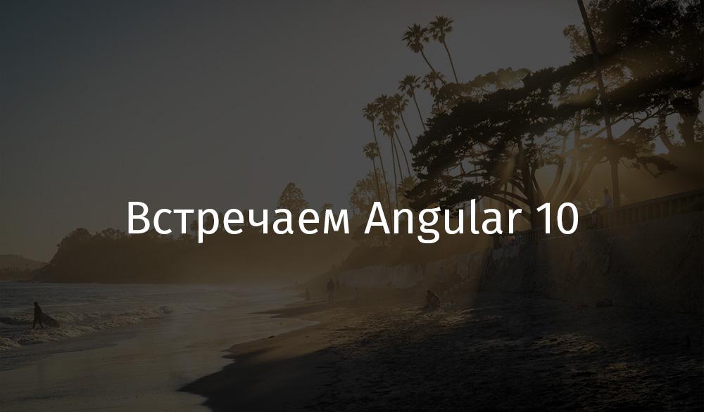 Перевод Встречаем Angular 10