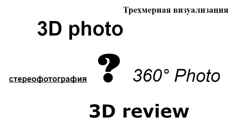 360-фото, 3D-обзоры и 3D-фото: разбираемся с терминологической путаницей