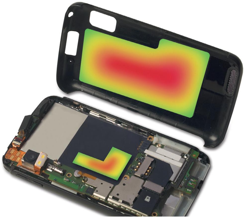 Гибкая графитовая фольга обеспечивает рассеивание тепла с электронных компонентов благодаря анизотропной теплопроводности — высокой в продольном направлении и низкой в поперечном. Изображение предоставлено GrafTech International