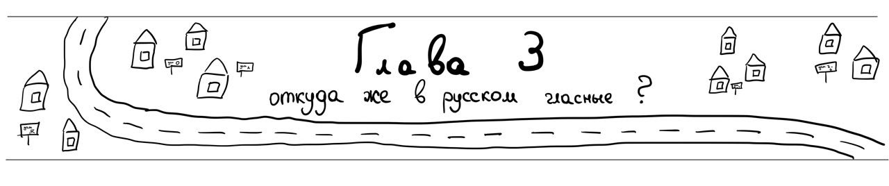 Глава 3 - откуда же в русском языке гласные?