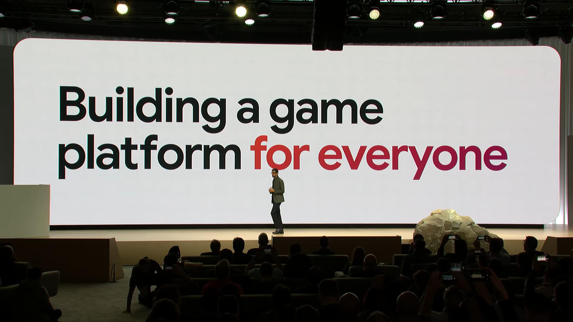 Извините, но все ваши базы принадлежат Google. Презентация Google на Game Development Conference 2019, проект Stadia