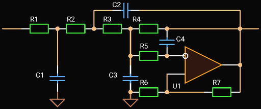 Fourth Order Multiple Feedback Low-pass Filter