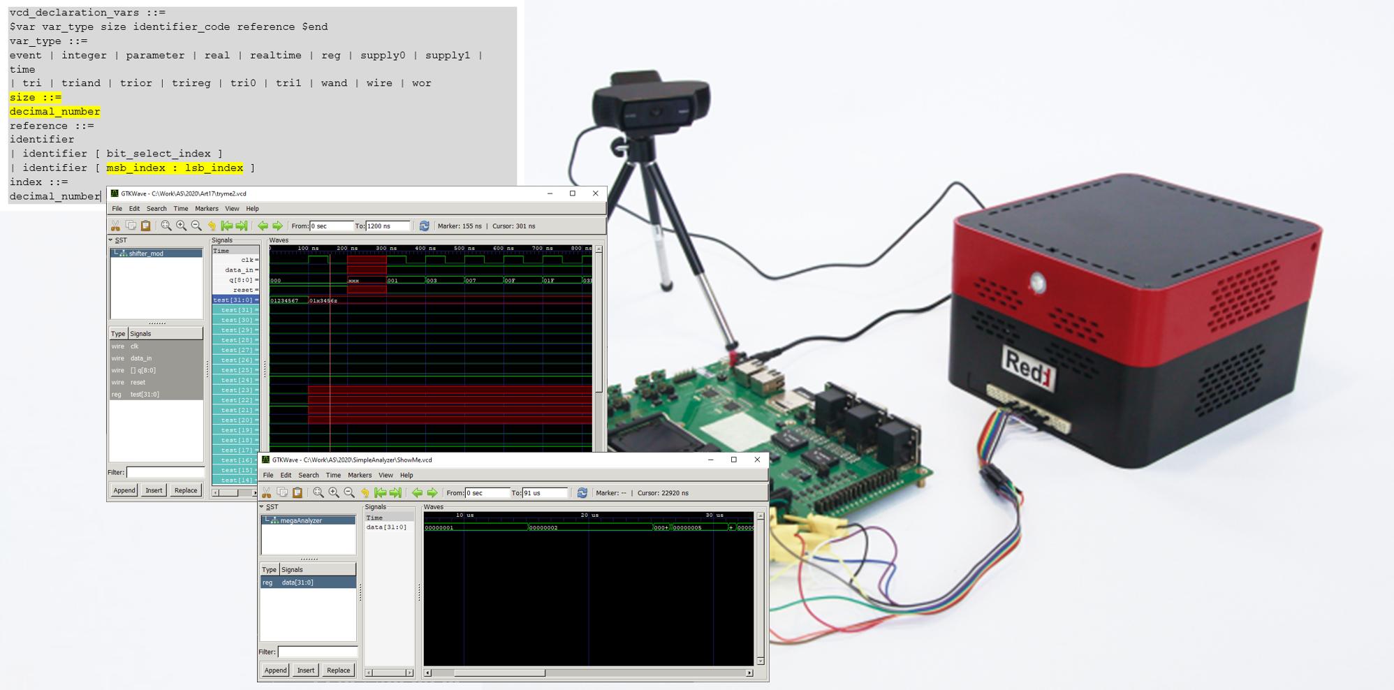 Разработка логического анализатора на базе Redd  проверяем его работу на практике