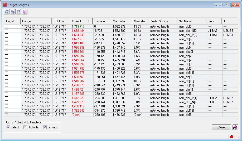 Нюансы работы инструментов Target Length и Tuning Meter в PADS Professional/Xpedition