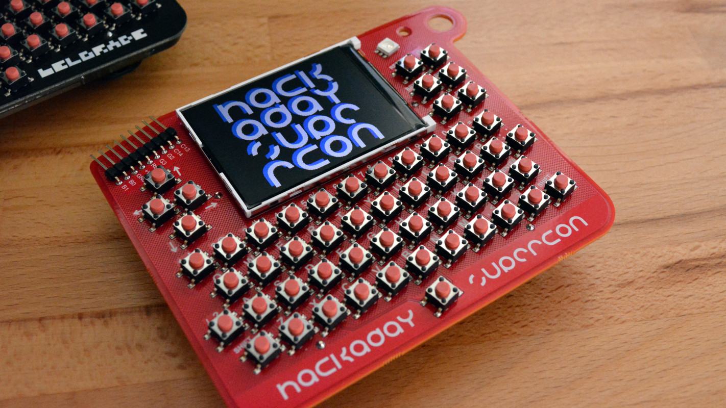 The second retrocomputer badge from Hackaday