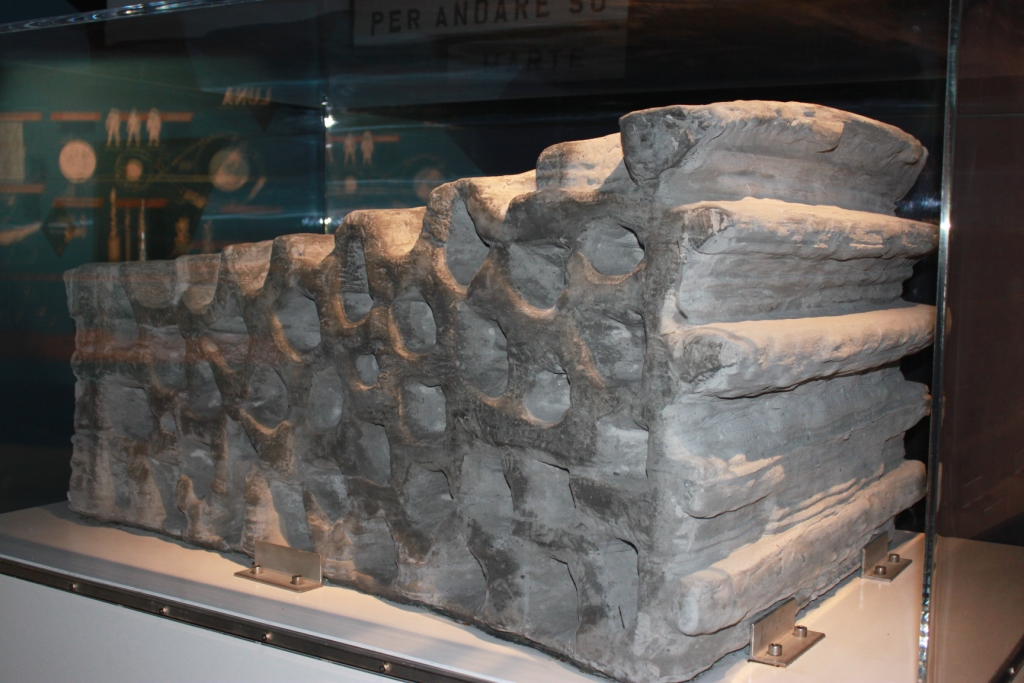 Bricks made of lunar dust