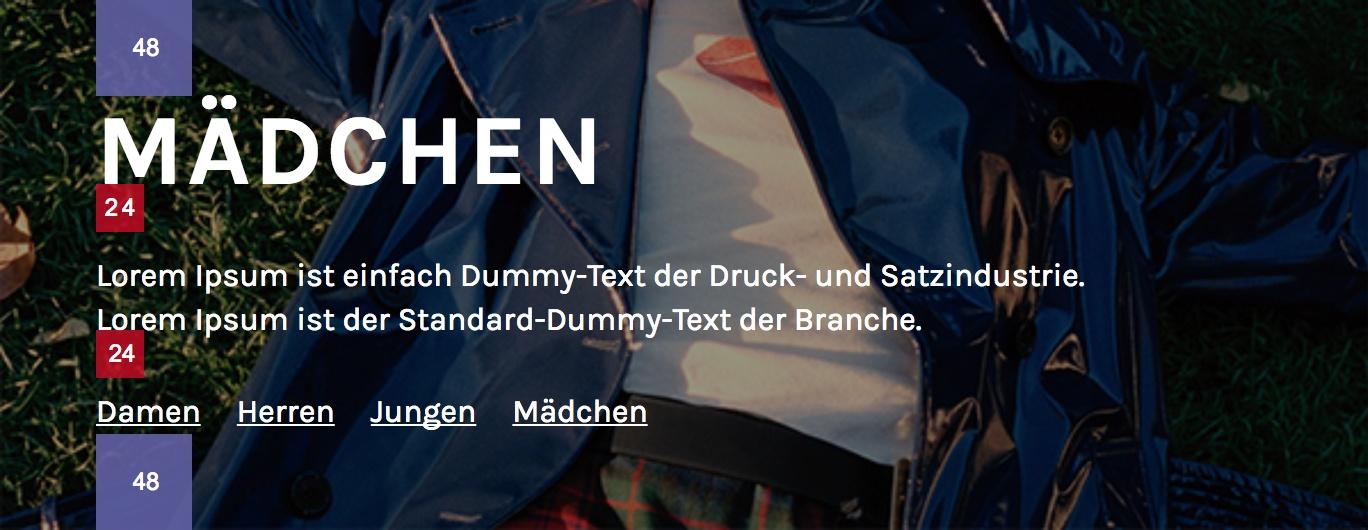 Gerenderter Text ohne Typografieanpassung für das deutsche Gebietsschema
