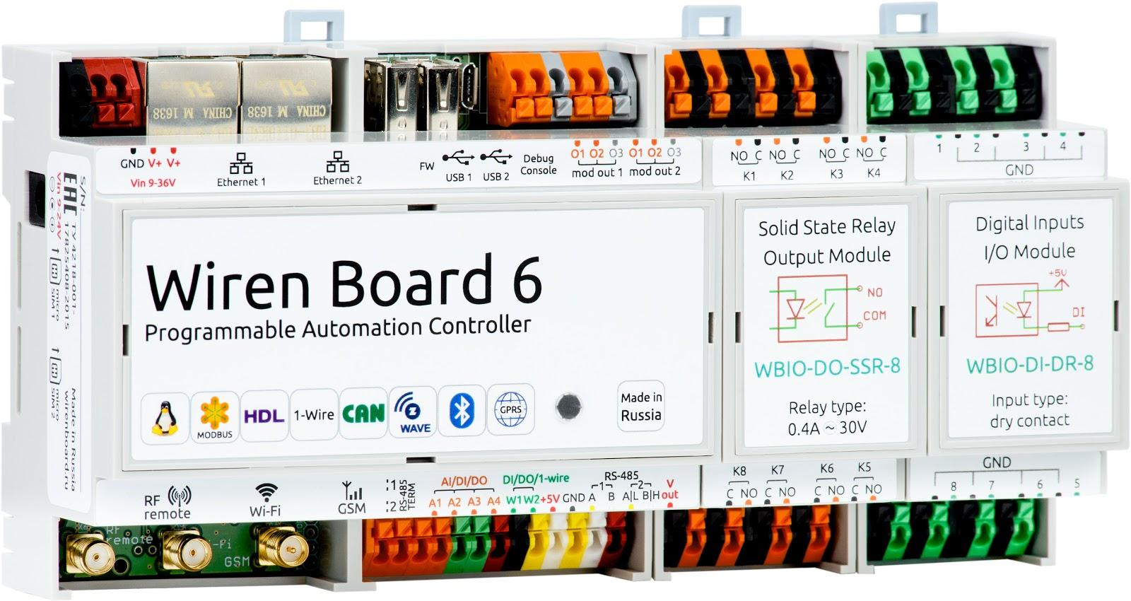 Wiren Board 6: снова на Хабре с новой версией контроллера для автоматизации