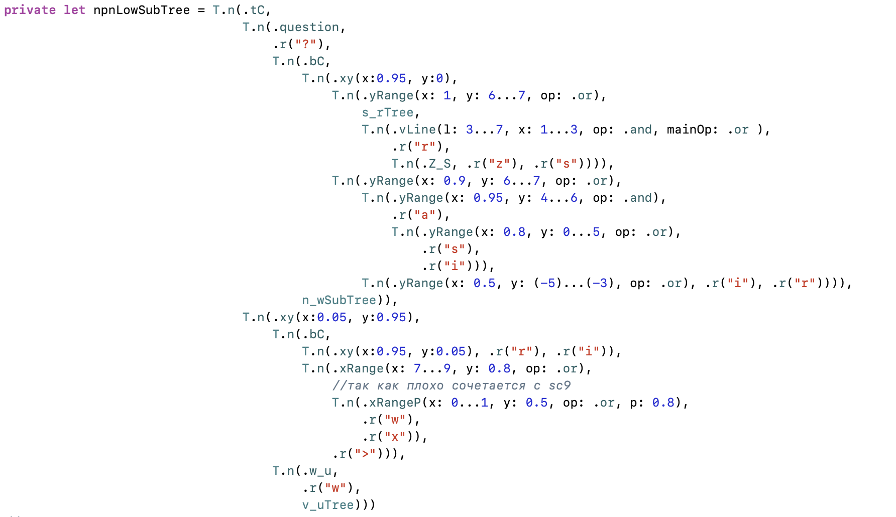 Using a binary tree in swift using enum using OCR as an example