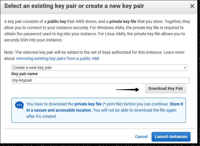 Сохранение KeyPair