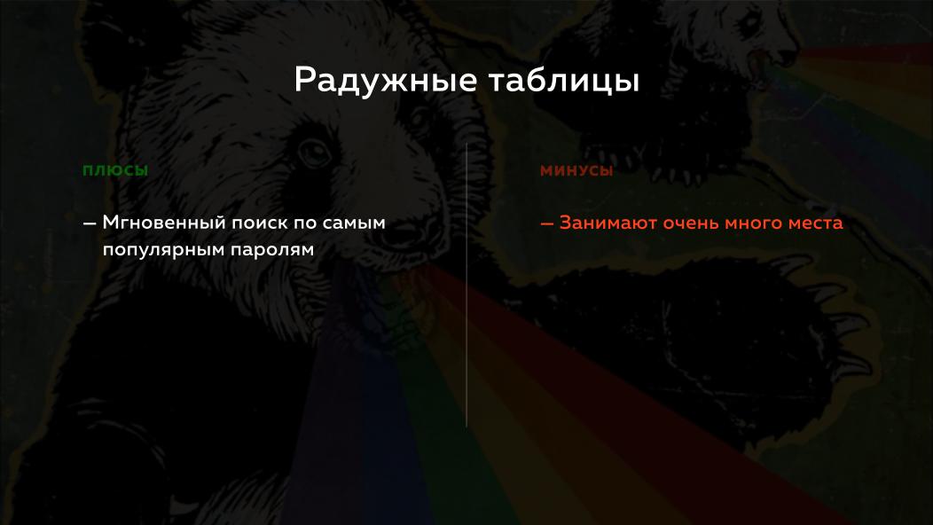 Slide 11.2.  Rainbow tables