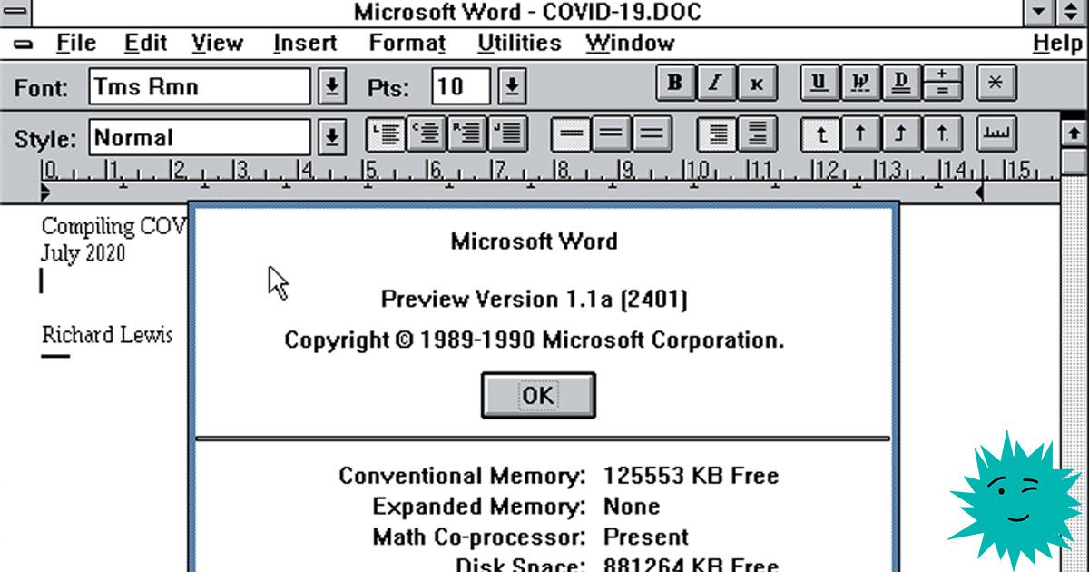 Перевод Компилируем Microsoft Word 1989 года