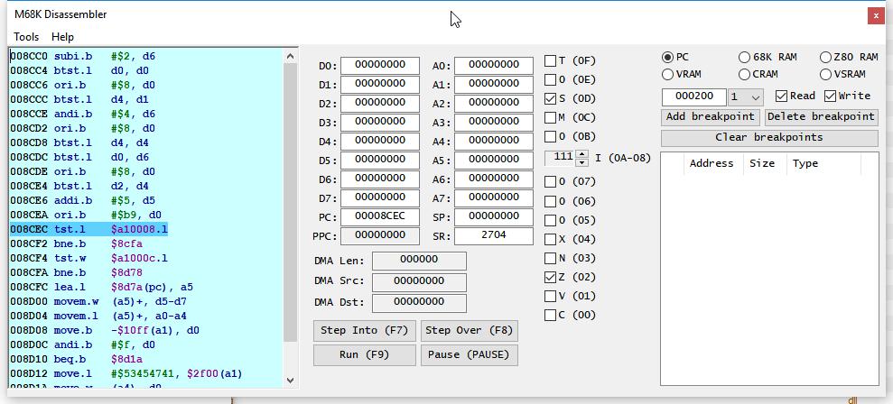 Модернизация IDA Pro. Отладчик для Sega Mega Drive (часть 1)