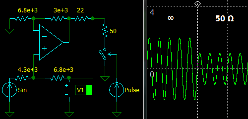 Non-Inverting Active Termination Driver, simulation