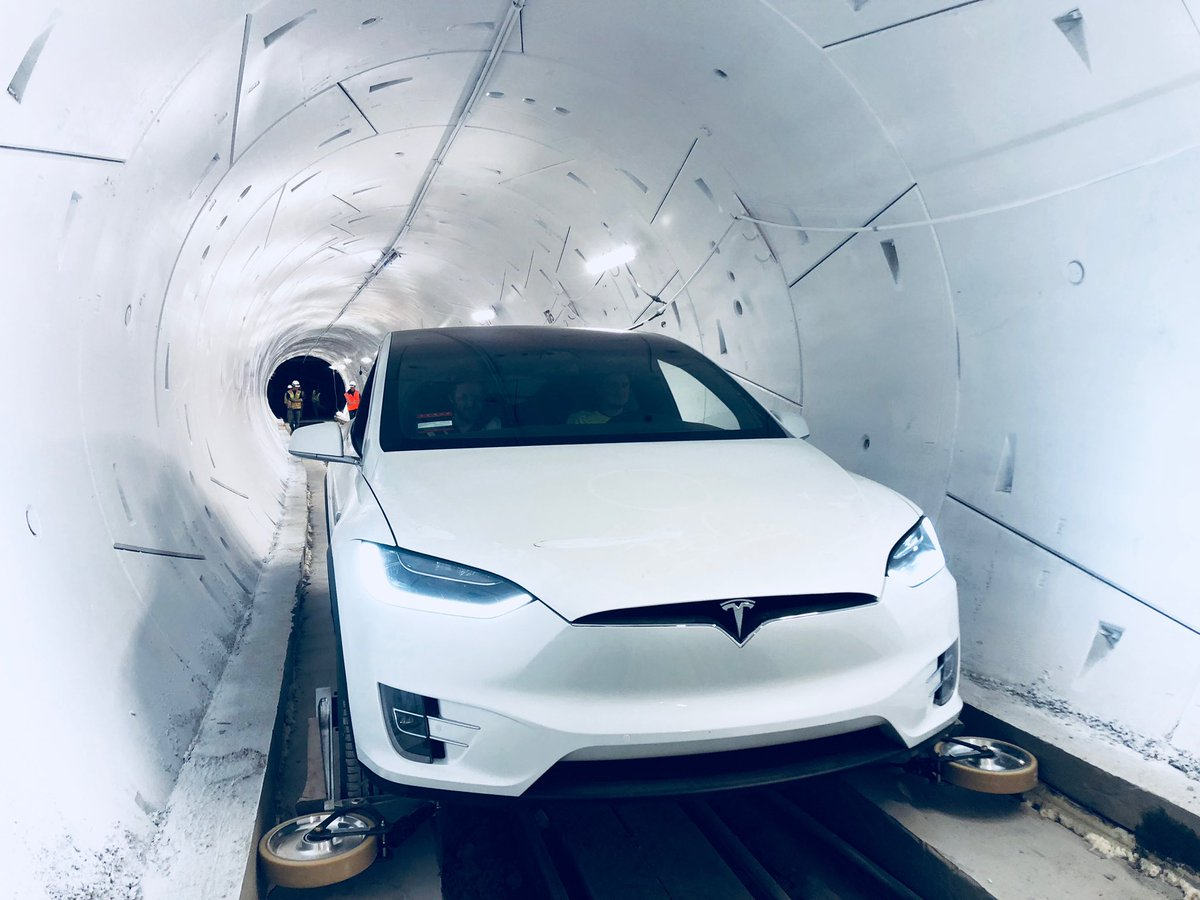 A testing tunnel from Boring Company