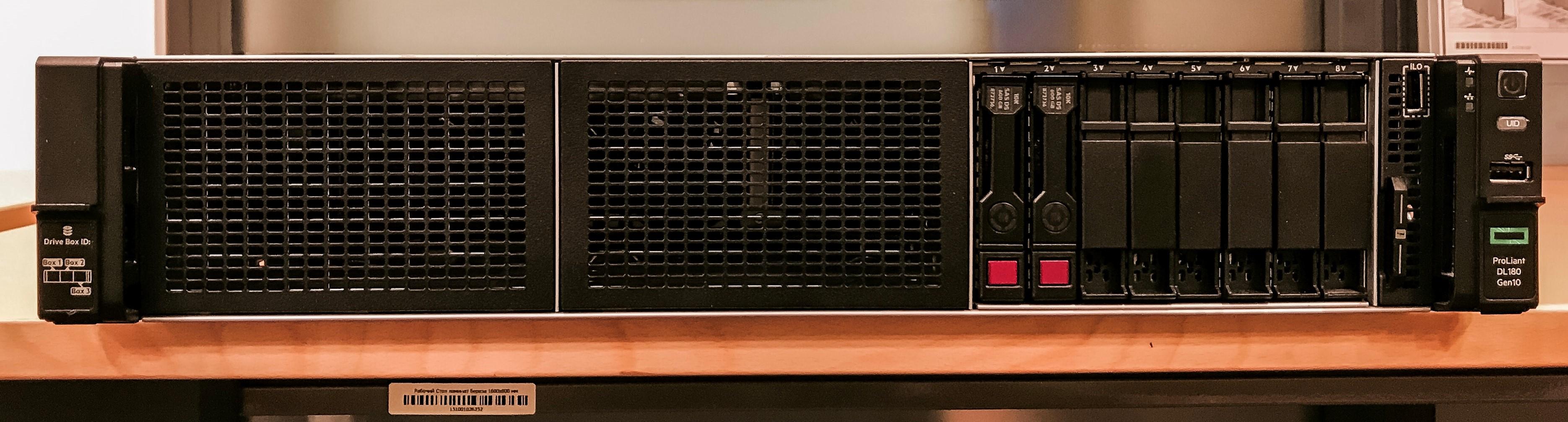 Передняя панель HPE ProLiant DL180 Gen10
